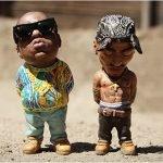 Esculturas miniatura de personajes de la cultura Pop