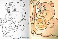 Corrompiendo los dibujos para colorear infantiles