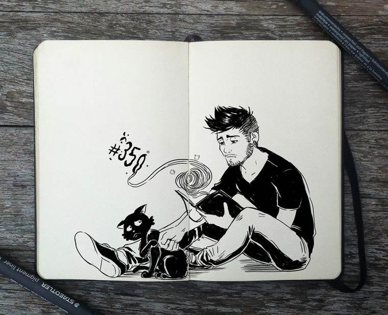 365 Days Of Doodles Gabriel Picolo (1)