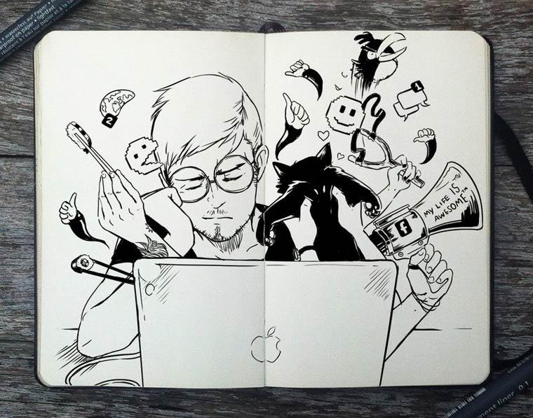 365 Days Of Doodles Gabriel Picolo (10)