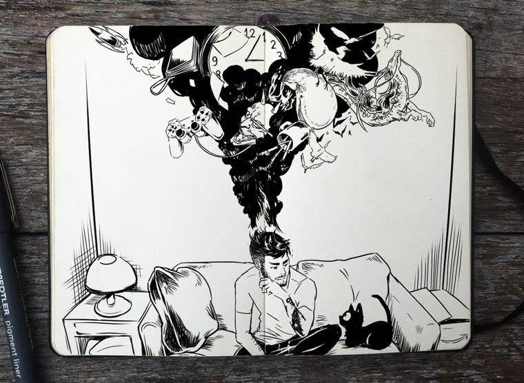 365 Days Of Doodles Gabriel Picolo (13)