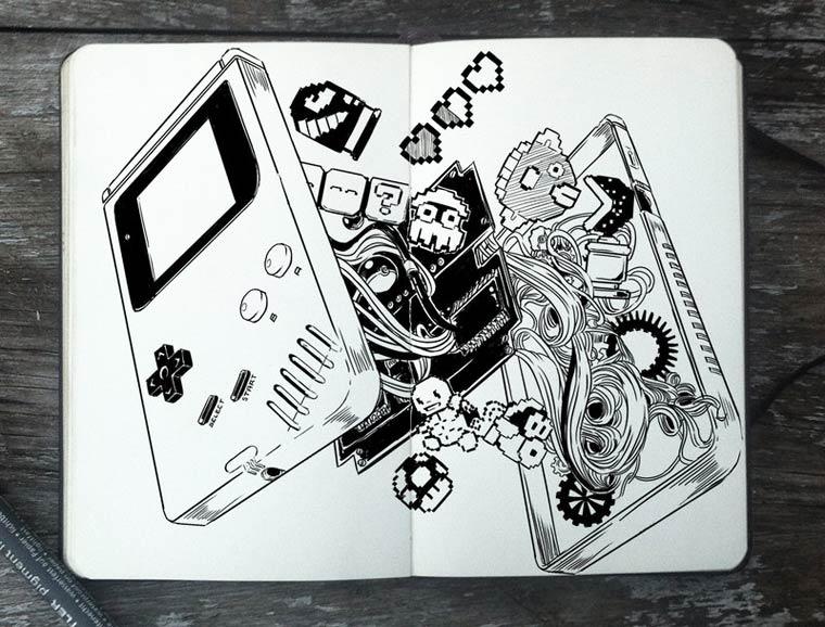 365 Days Of Doodles Gabriel Picolo (18)