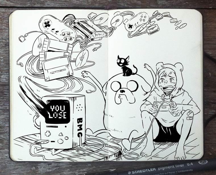 365 Days Of Doodles Gabriel Picolo (23)