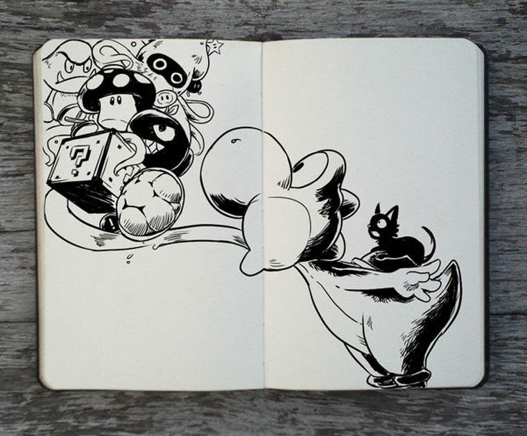365 Days Of Doodles Gabriel Picolo (34)