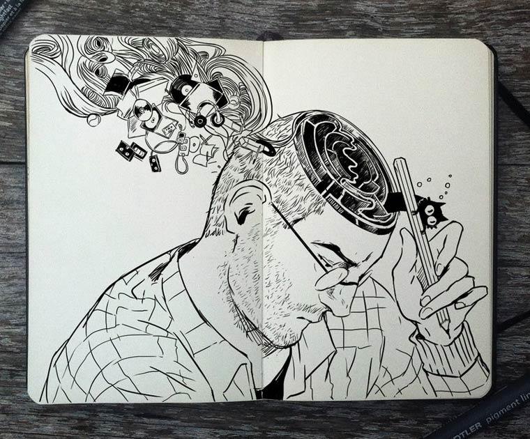 365 Days Of Doodles Gabriel Picolo (37)