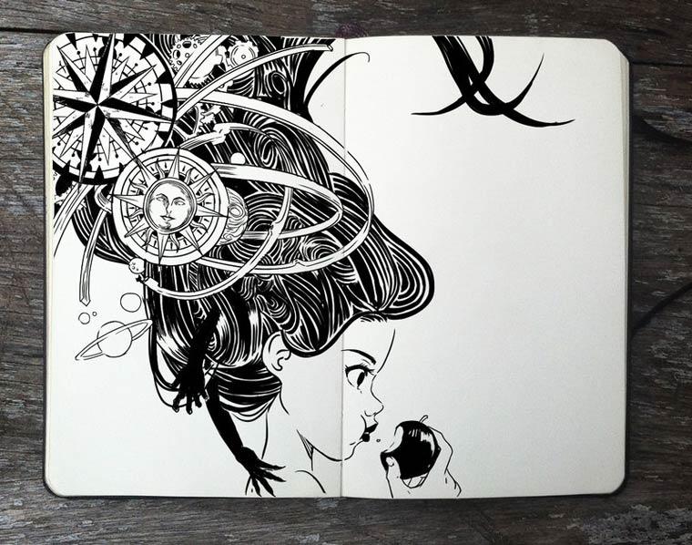 365 Days Of Doodles Gabriel Picolo (8)