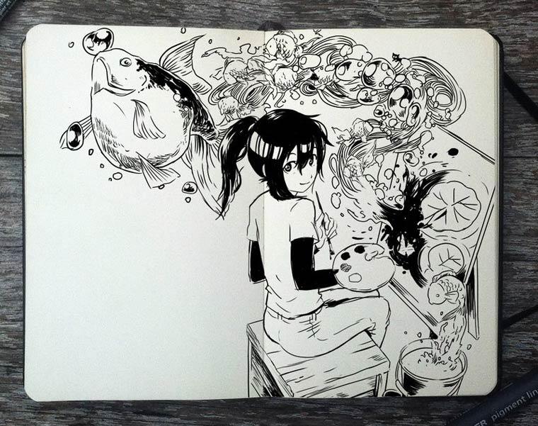 365 Days Of Doodles Gabriel Picolo (9)