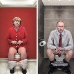 Los líderes mundiales sentados en el trono