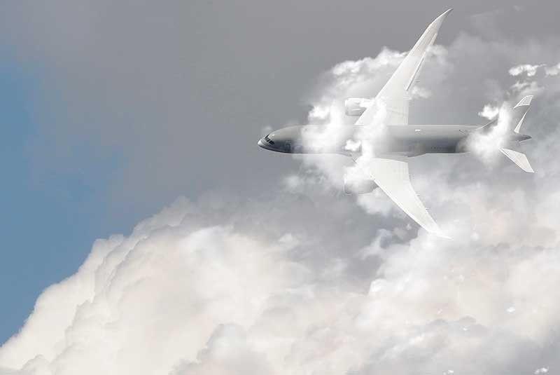 avion nube