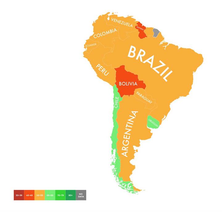 mapa cambio climatico sudamerica