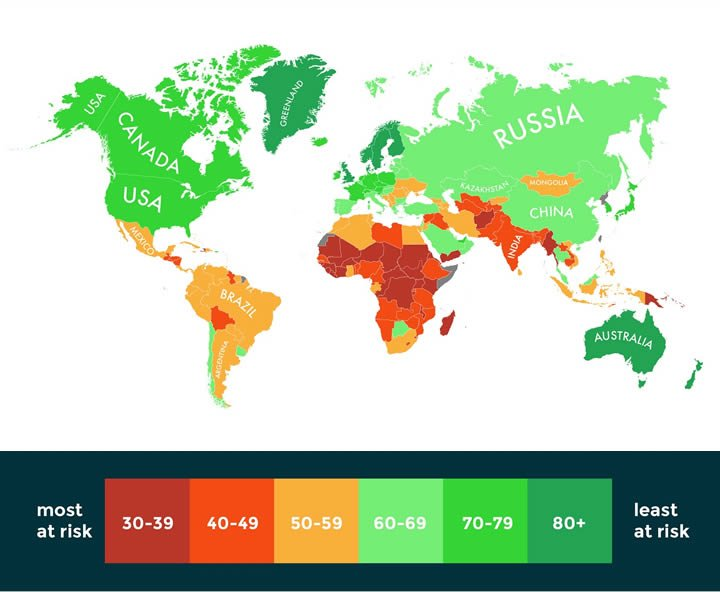 mapa cambio climatico