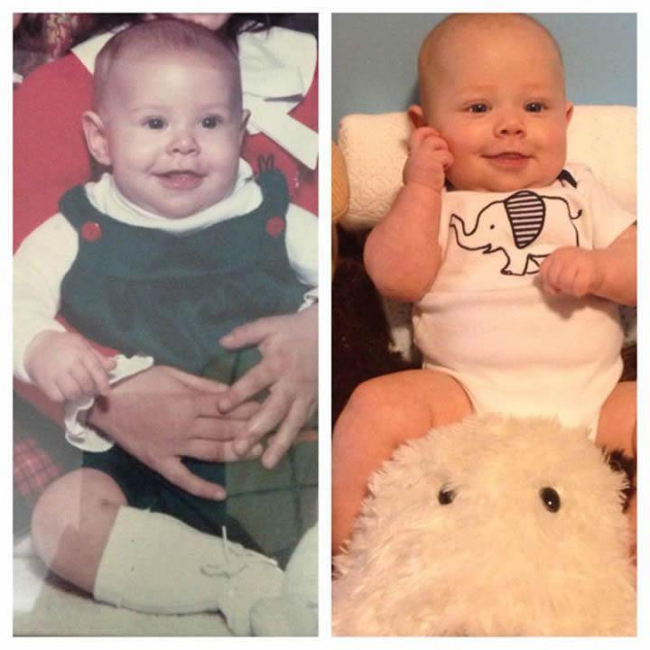 Padre e hijo a los 5 meses
