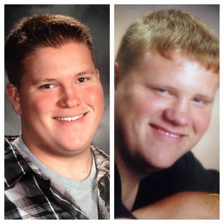 Hijo con 16 y padre con 17 años.
