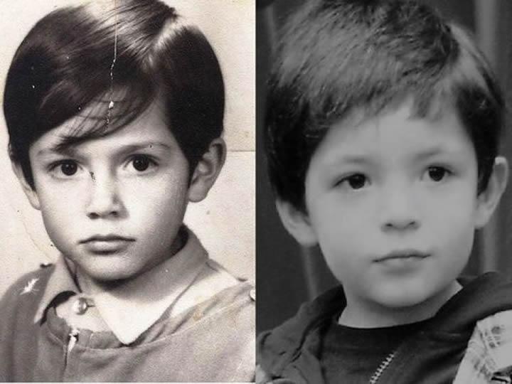 Padre a los 5 años e hijo con 4.