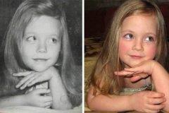 75 fotos de padres e hijos idénticos