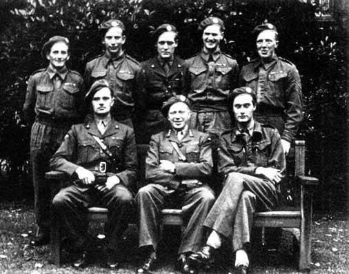 Saboteadores de la resistencia noruega en Vemork. Faltó 1 elemento del equipo de asalto.