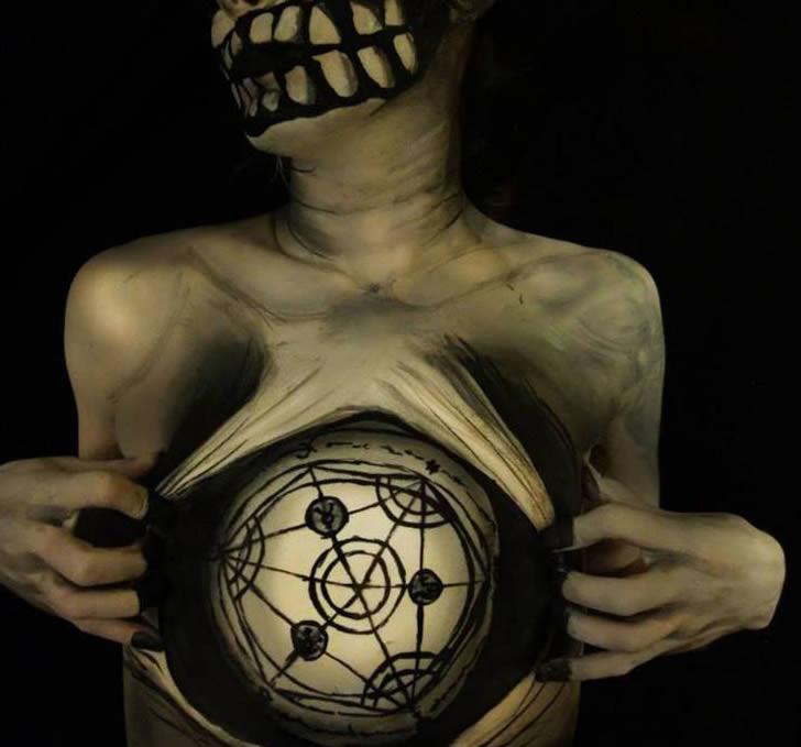 Bodypain Natalie Fletcher ilusiones opticas (5)