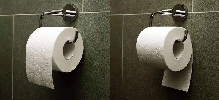 C mo usar el papel higi nico de la forma correcta marcianos for Accesorios para bano papel higienico