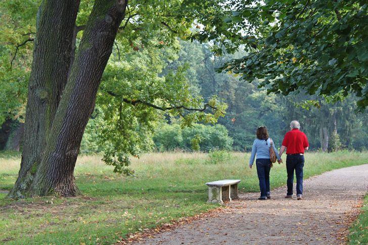 pareja ancianos felices