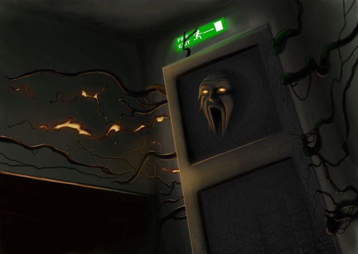pesadilla puerta