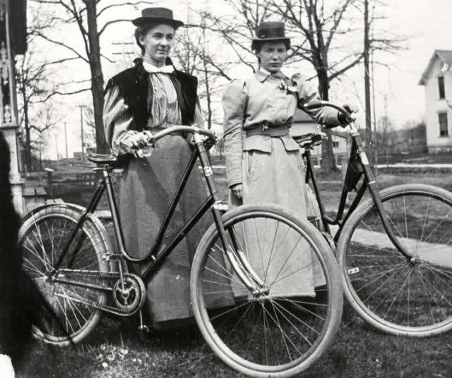 ciclistas mujeres era victoriana