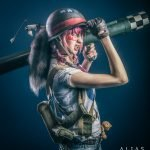 Cosplayers en retratos profesionales