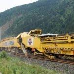 RU 800S, la súper máquina que construye vías ferroviarias