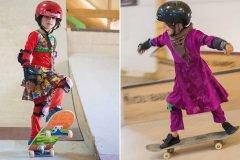Las niñas afganas que encontraron libertad en las patinetas