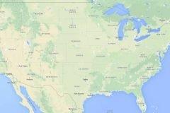 """¿Por qué los límites en los estados de los Estados Unidos son """"rectos""""?"""