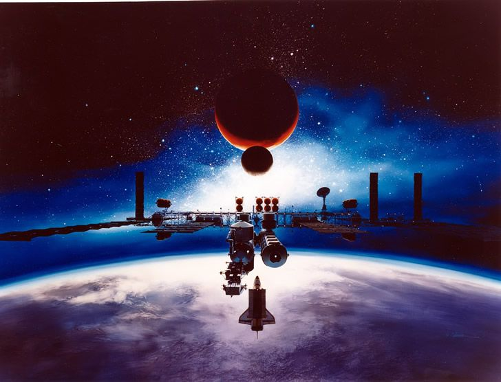 estacion espacial tierra