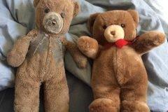 Madre compra dos osos de peluche idénticos – uno para su hijo y otro para el fut...