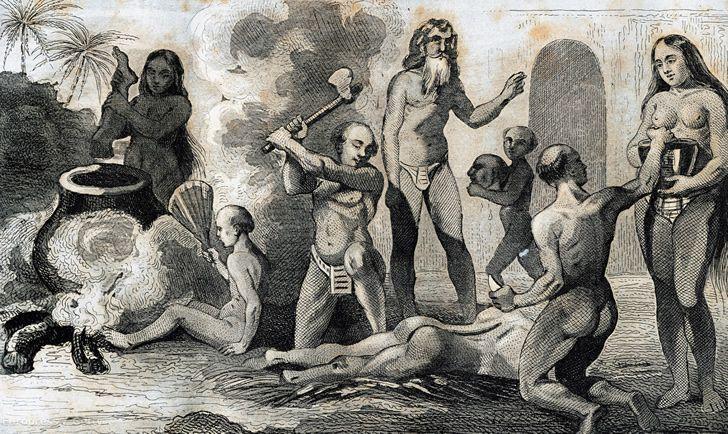 canibales ilustracion