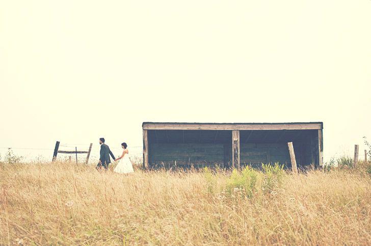pareja campo