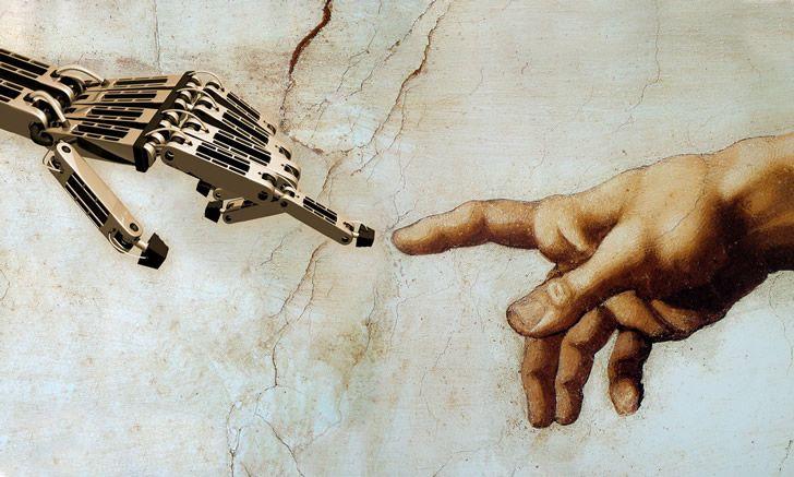 robot y humano creacion