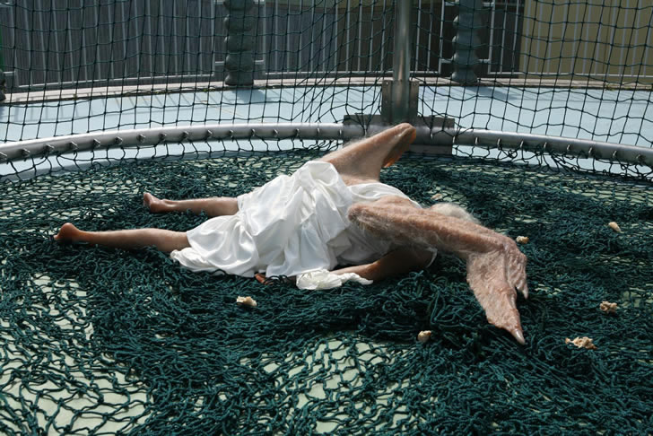 Angel caido escultura (3)
