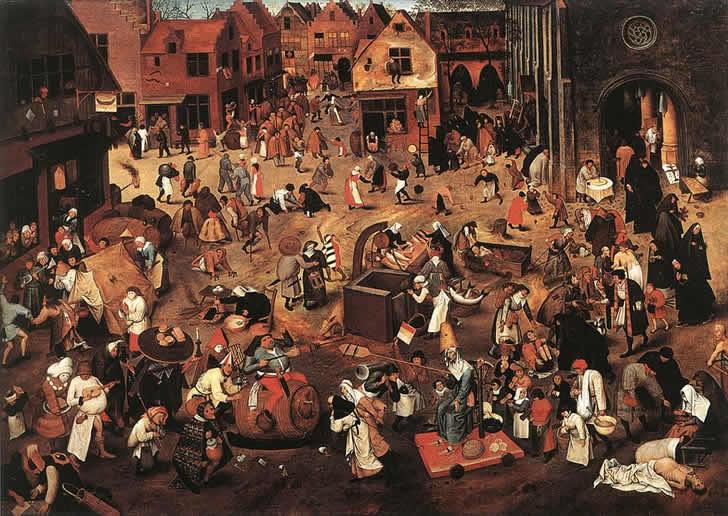 El combate entre don carnaval y doña cuaresma -  Pieter Brueghel el Viejo, 1559