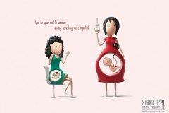 Estas ilustraciones nos muestran porqué las embarazadas merecen un asiento