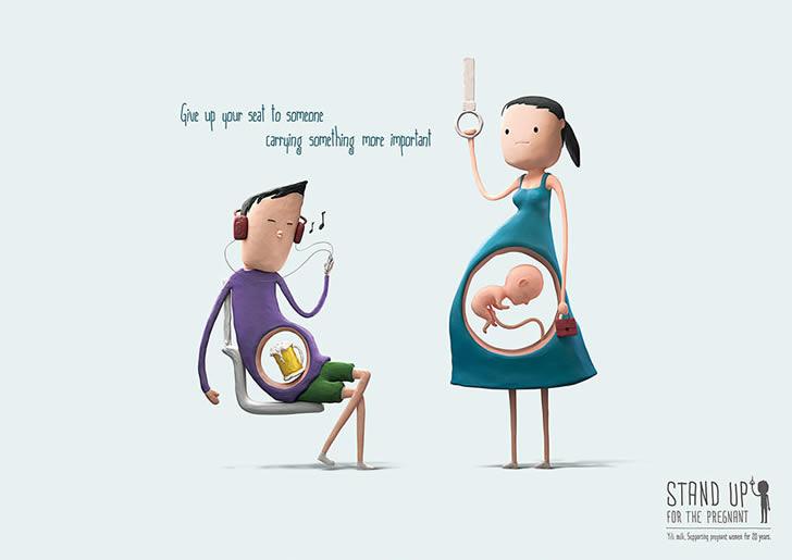 ilustraciones embarazadas transporte público (3)