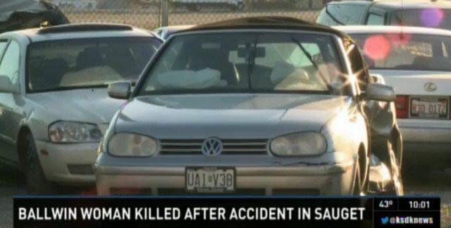 muerta choque automovil