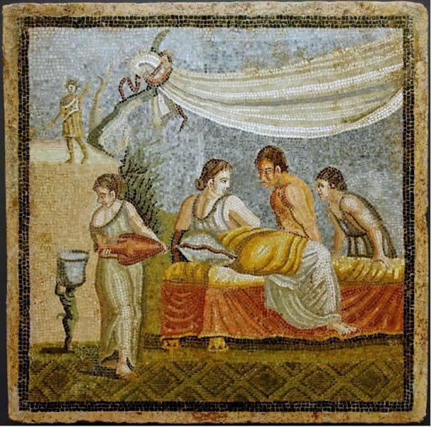 mujer antigua roma