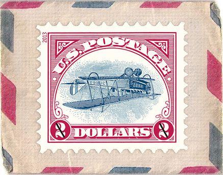 sello postal Jenny Invertido