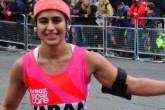 La mujer que corrió un maratón menstruando y sin protección