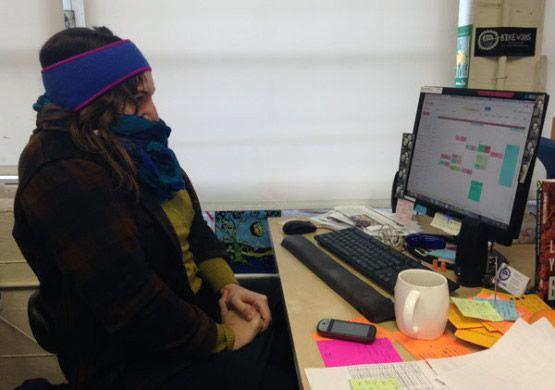 frio sueter oficina