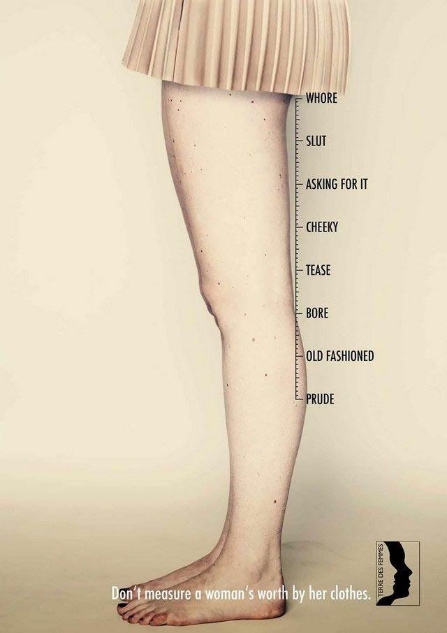 no juzguez a la mujer por su ropa