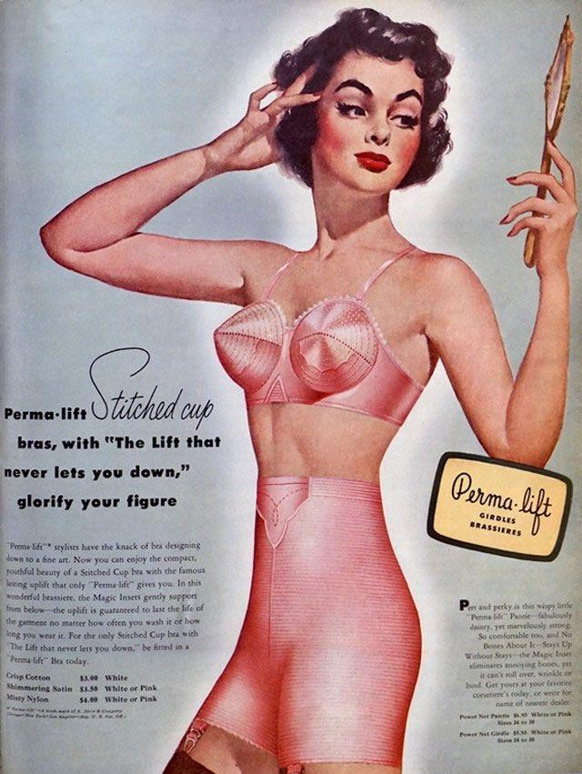ropa encaje 1950