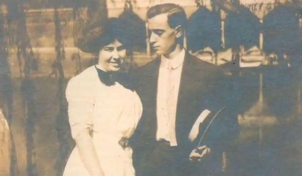 Leo Frank y su esposa.
