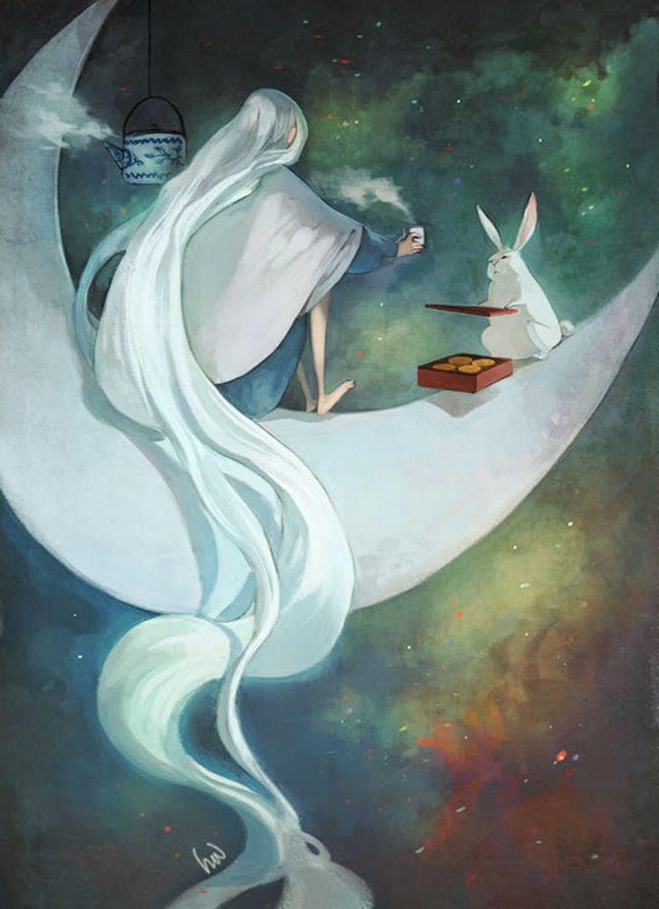 china leyenda conejo luna
