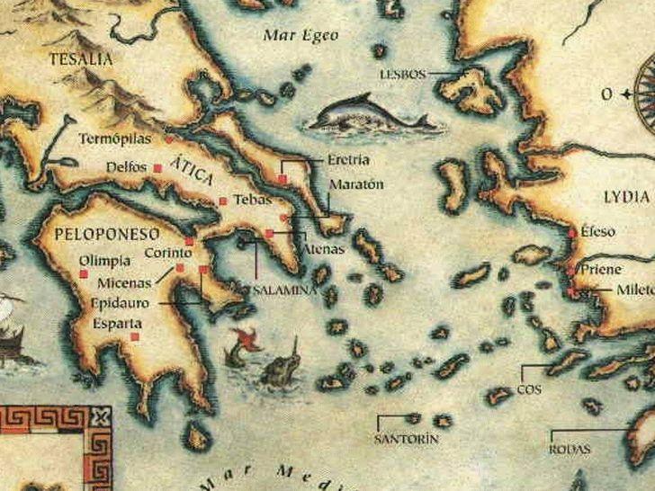 mapa grecia clasica