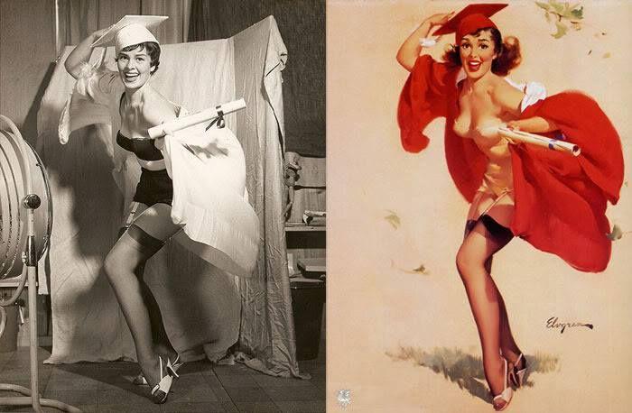 Las mujeres reales tras las ilustraciones pin-ups