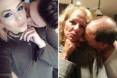Los padres que imitan las fotografías de su hija con el novio